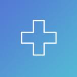 Cercle avec icône de croix représentant la stratégie d'hôpital pour la réduction des réadmissions et capturant le marché ambulatoire