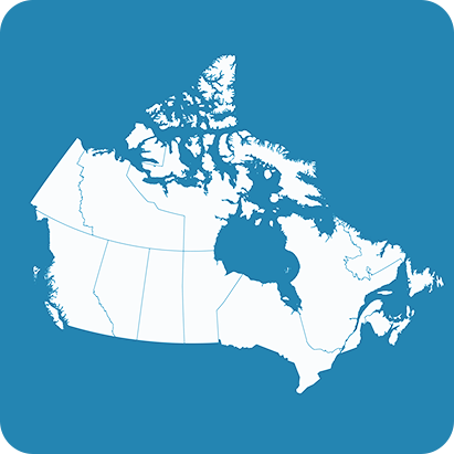Map of Canada to compliment the state of virtual care in the country varies by province and region, as remote locations may require it more