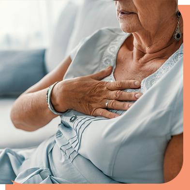 Femme âgée ayant de multiples maladies recevant des évaluations quotidiennes pour MPOC et diabète.