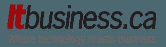 """itbusiness.ca logo. """"Où la technologie rencontre les affaires"""""""