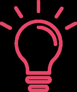 Icône d'ampoule qui s'allume et s'éteint pour représenter le moment où Michel Paquet, fondateur d'Aetonix, a eu l'idée d'aidez ceux ayant des besoins de soins complexes.